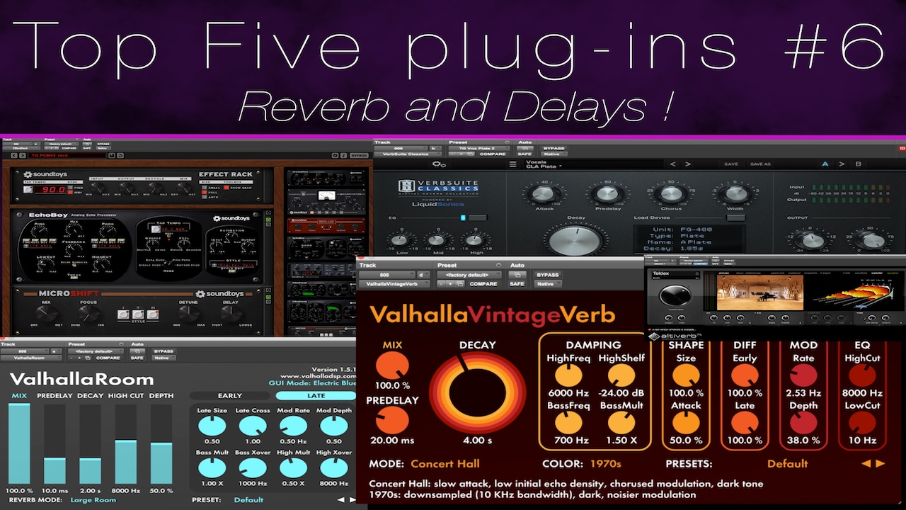 Top 5 Reverb and Delay Plugins